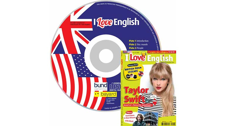 couverture I Love English n°207, avril 2013, avec CD audio