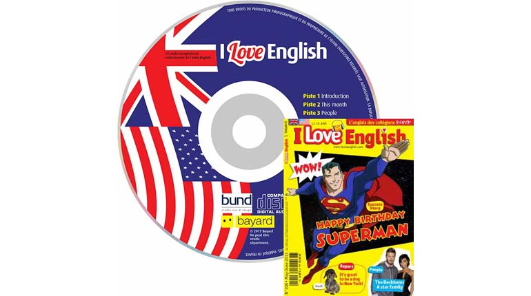 couverture I Love English n°208, mai-juin 2013, avec CD audio