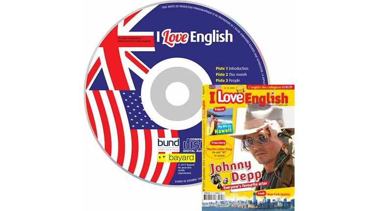 couverture I Love English n°210, septembre 2013, avec CD audio
