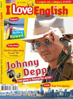 couverture I Love English n210 - septembre 2013