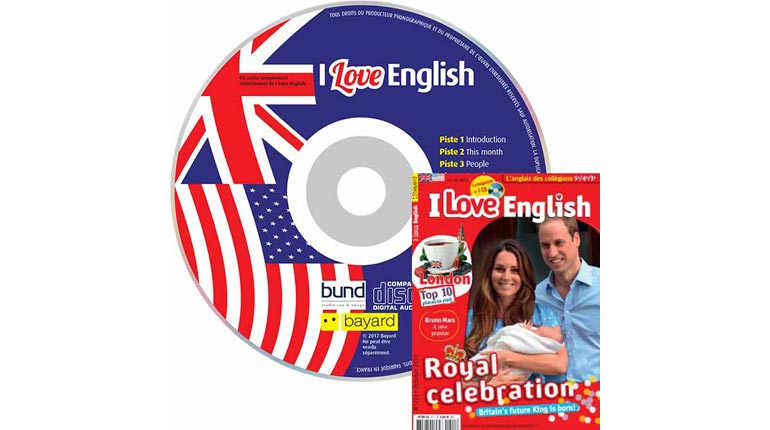 couverture I Love English n°211, octobre 2013, avec CD audio