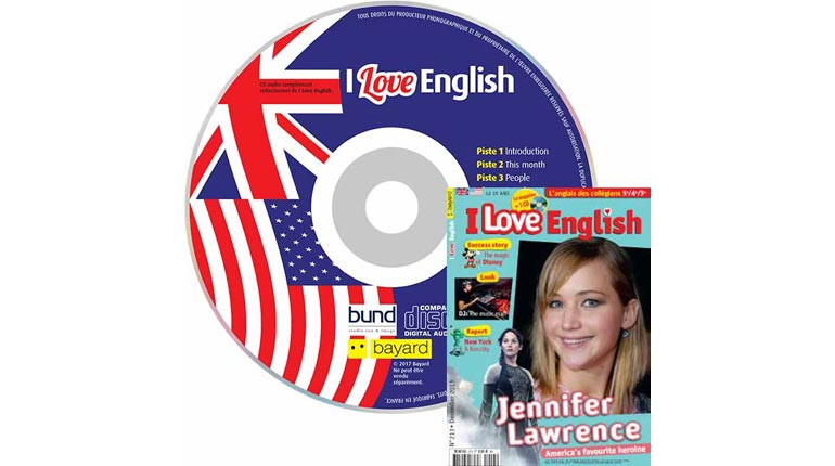 couverture I Love English n°213, décembre 2013, avec CD audio