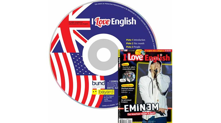 couverture I Love English n°214, janvier 2014, avec CD audio