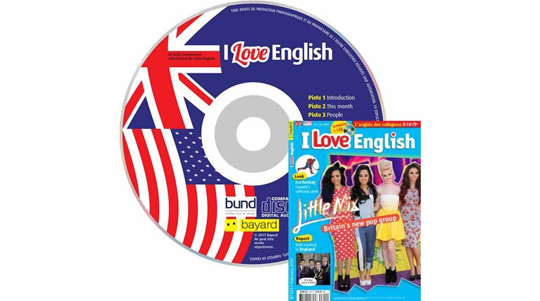 couverture I Love English n°215, février 2014, avec CD audio