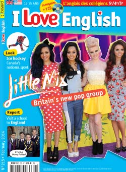 couverture I Love English n215 - février 2014