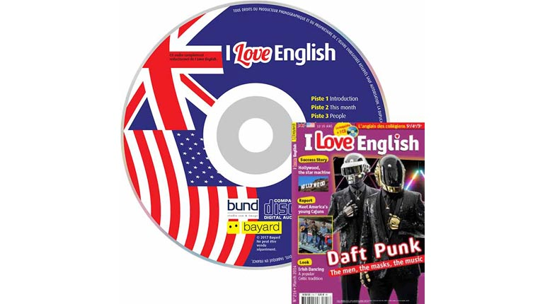 couverture I Love English n°216, mars 2014, avec CD audio