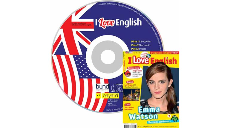 couverture I Love English n°217, avril 2014, avec CD audio