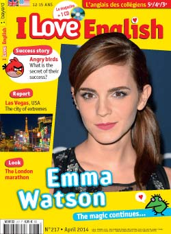 couverture I Love English n217 - avril 2014