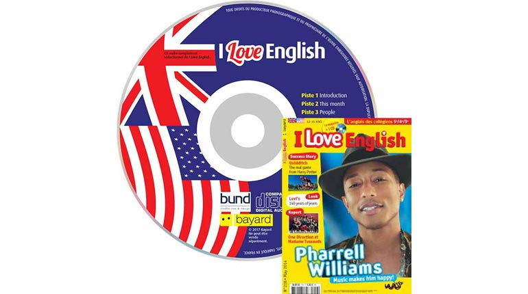 couverture I Love English n°218, mai 2014, avec CD audio