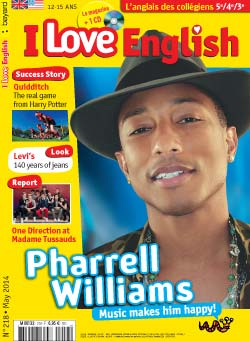 couverture I Love English n218 - mai 2014