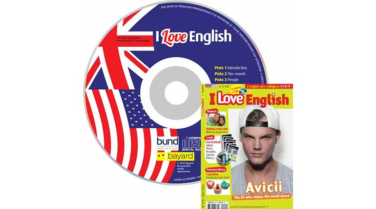 couverture I Love English n°219, juin 2014, avec CD audio