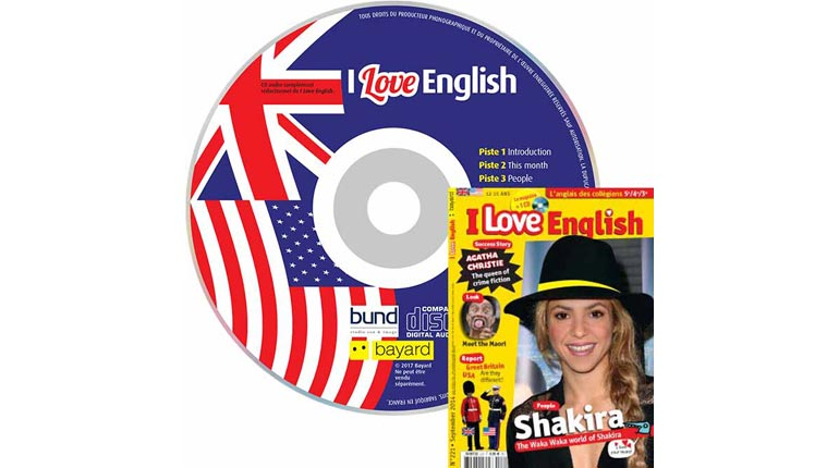 couverture I Love English n°221, septembre 2014, avec CD audio
