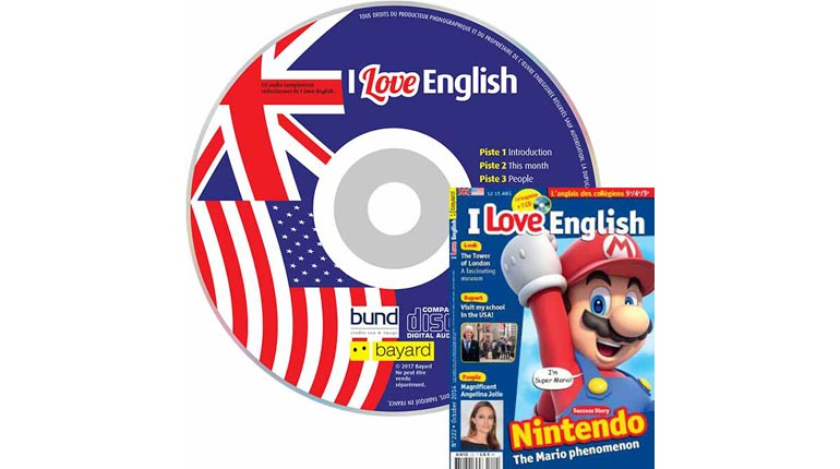 couverture I Love English n°222, octobre 2014, avec CD audio