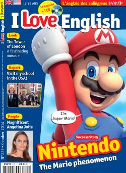 couverture I Love English n222 - octobre 2014