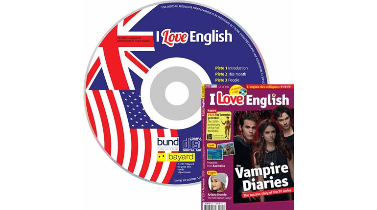 couverture I Love English n°223, novembre 2014, avec CD audio