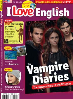 couverture I Love English n223 - novembre 2014