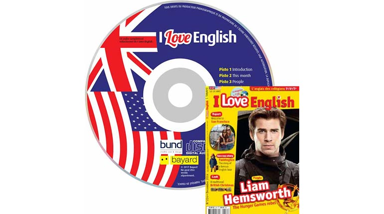 couverture I Love English n°224, décembre 2014, avec CD audio