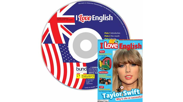 couverture I Love English n°225, janvier 2015, avec CD audio