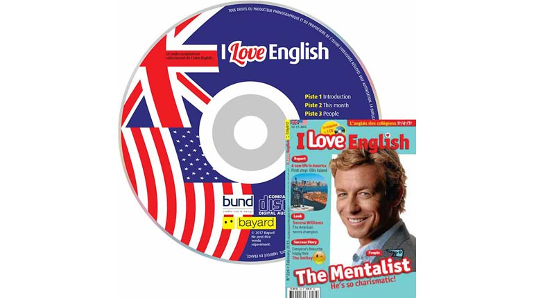 couverture I Love English n°226, février 2015, avec CD audio