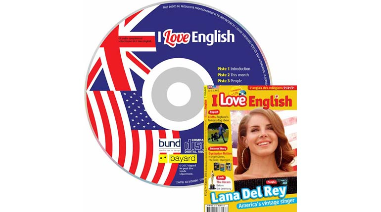 couverture I Love English n°227, mars 2015, avec CD audio
