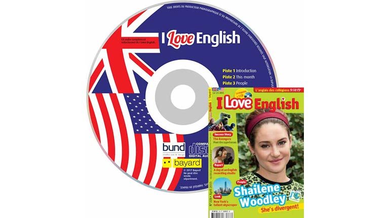 couverture I Love English n°228, avril 2015, avec CD audio