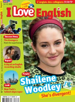 couverture I Love English n228 - avril 2015