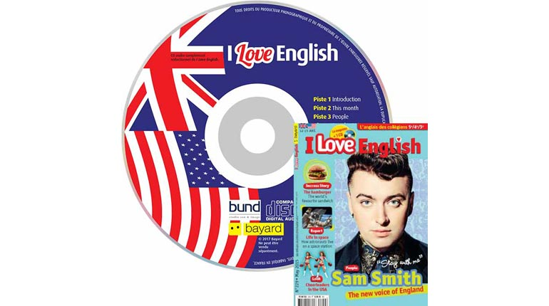 couverture I Love English n°229, mai 2015, avec CD audio