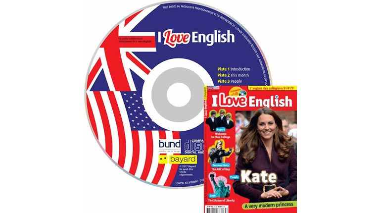 couverture I Love English n°232, septembre 2015, avec CD audio