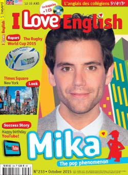 couverture I Love English n233 - octobre 2015