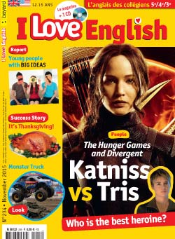 couverture I Love English n234 - novembre 2015