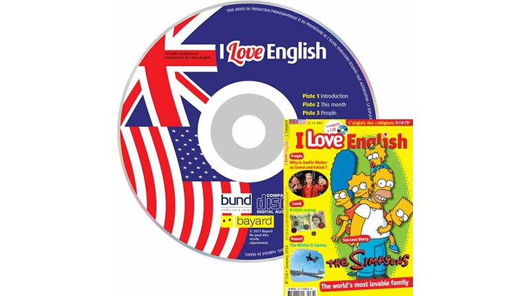 couverture I Love English n°236, janvier 2016, avec CD audio