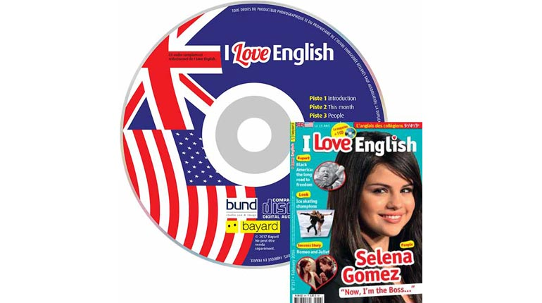 couverture I Love English n°237, février 2016, avec CD audio