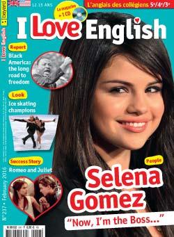 couverture I Love English n237 - février 2016