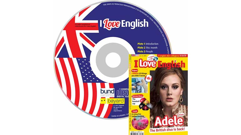 couverture I Love English n°238, mars 2016, avec CD audio
