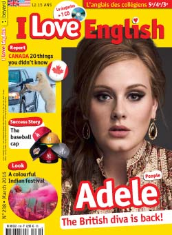 couverture I Love English n238 - mars 2016