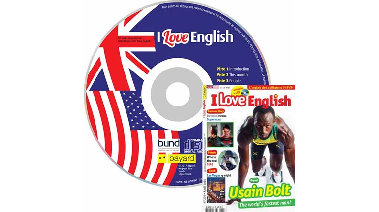 couverture I Love English n°239, avril 2016, avec CD audio