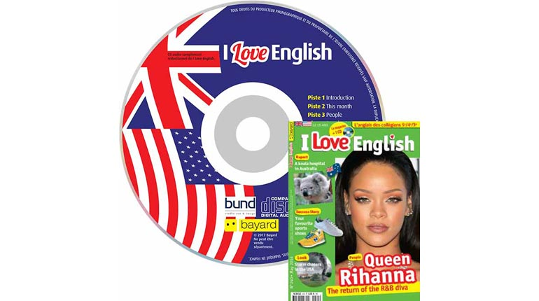 couverture I Love English n°240, mai 2016, avec CD audio