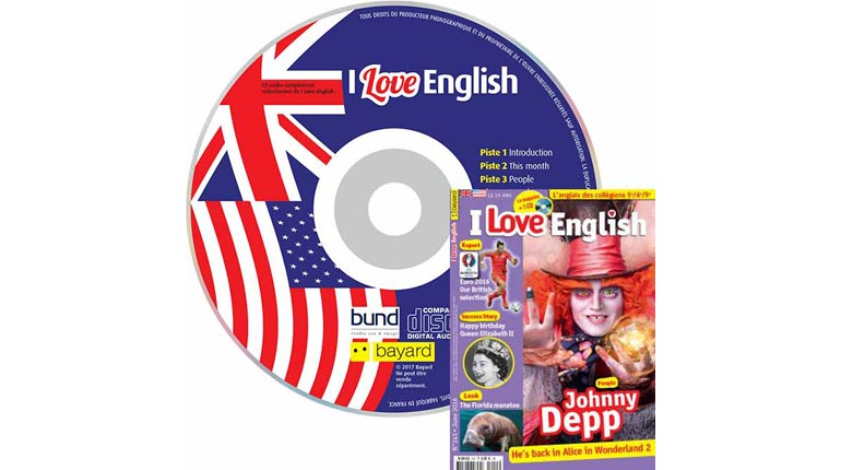 couverture I Love English n°241, juin 2016, avec CD audio