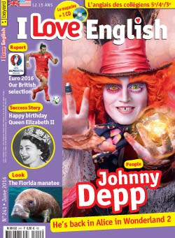 couverture I Love English n241 - juin 2016