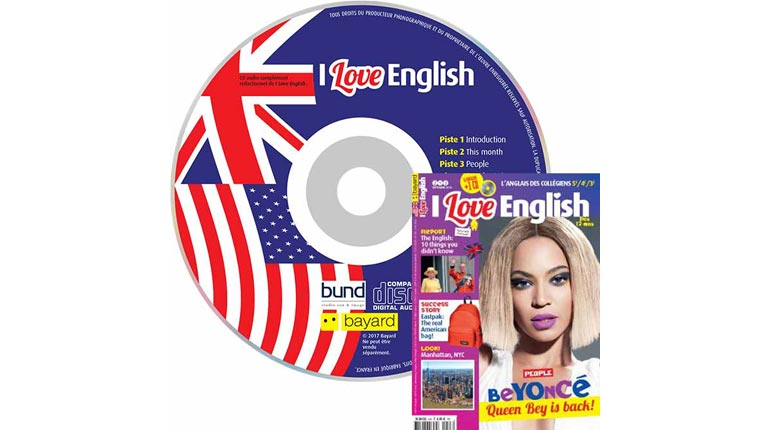 couverture I Love English n°243, septembre 2016, avec CD audio