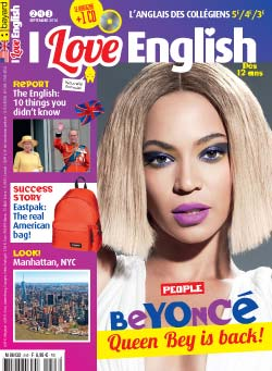 couverture I Love English n243 - septembre 2016