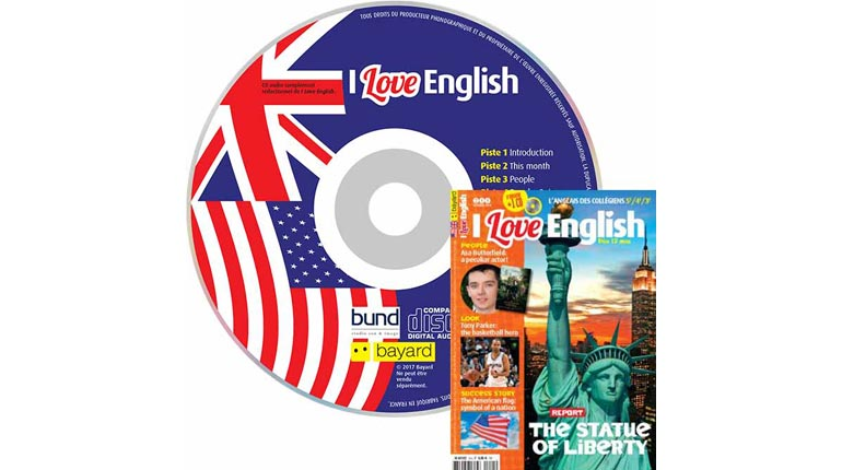 couverture I Love English n°244, octobre 2016, avec CD audio