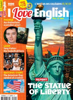 couverture I Love English n244 - octobre 2016