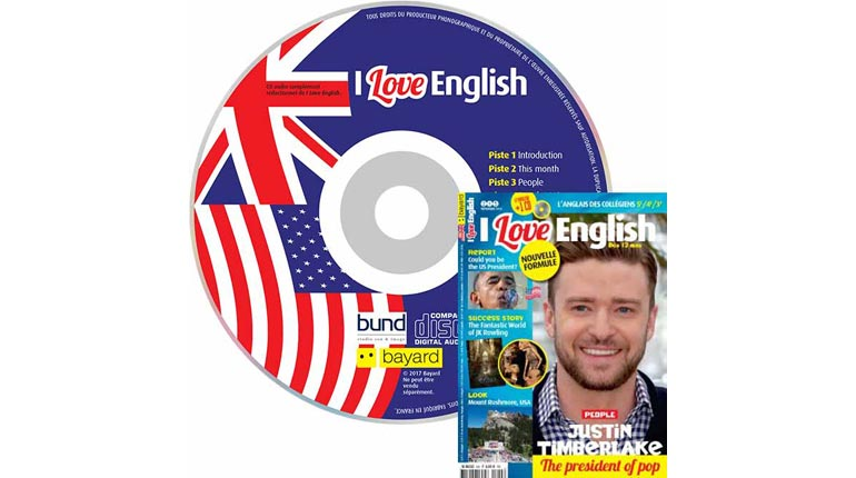 couverture I Love English n°245, novembre 2016, avec CD audio