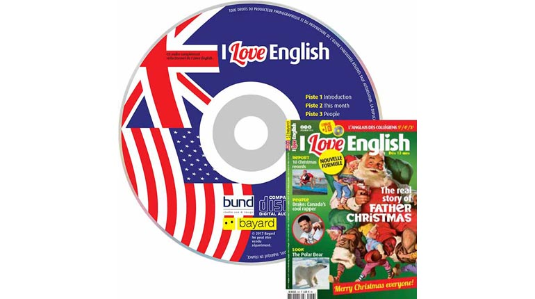 couverture I Love English n°246, décembre 2016, avec CD audio