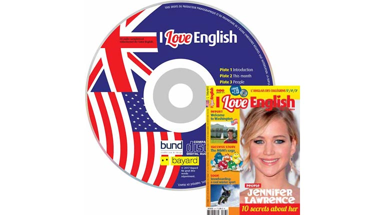 couverture I Love English n°247, janvier 2017, avec CD audio