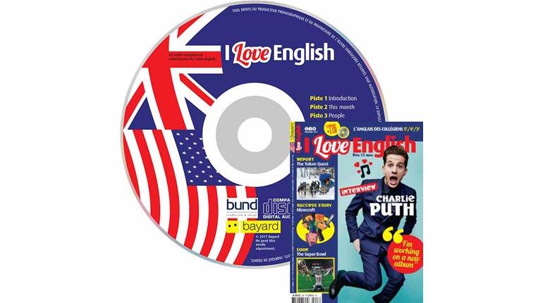 couverture I Love English n°248, février 2017, avec CD audio