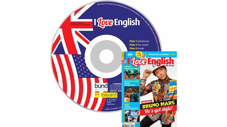 couverture I Love English n°249, mars 2017, avec CD audio