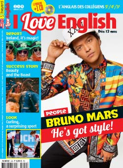 couverture I Love English n249 - mars 2017
