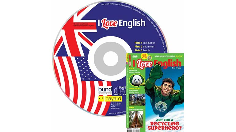 couverture I Love English n°250, avril 2017, avec CD audio